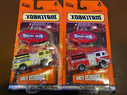 """Matchbox Real Talkin' """"Fire Truck"""" and """"Fire Rescue"""" 2-Pack"""