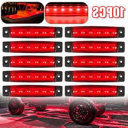 Red 10 Pods LED Rock Lights For Jeep Offroad Car Truck ATV B