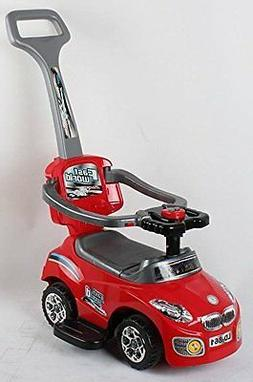 RED 861Kid Ride on 3 in 1 Push Car Toddler Wagon W Handle Ho