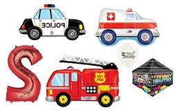 Red Number  Rescue Team Ambulance Fire Truck Police First Re