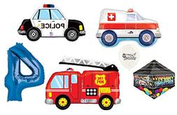 Rescue Team Ambulance Fire Truck Police First Responders Th