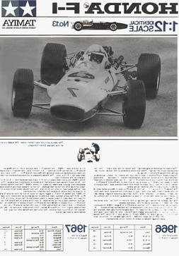 Restored Instruction manual for Vintage Tamiya 1/12 Honda RA