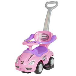 Kid Ride On 3 In 1 Push Car Toddler Wagon W Handle Horn Outd