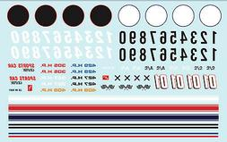 Auto World Road Racing Graphics Decal 1:64 Scale Diecast,  H