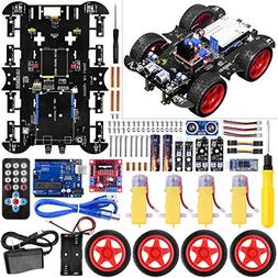 UNIROI Smart Robot Car Kit Arduino Robot Kit with 4 Wheel Dr