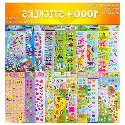 Stickers 1000 + and 20 Different Scenes , 3D Puffy Stickers,