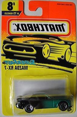 MATCHBOX SUPER FAST GREEN/BLACK MAZDA RX-7 #8 OF 75 VEHICLES