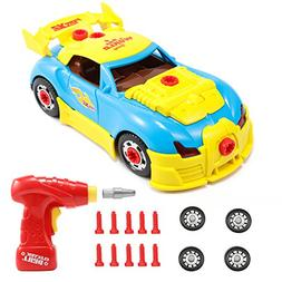 Magicfly Take Apart Car with Tool Drill, Take-A-Part World R