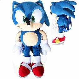 """Sonic The Hedgehog plush backpack 20"""" inches For Kids - Lice"""