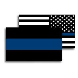 Thin Blue Line/Thin Blue Line American Flag Magnets 3x5 inch