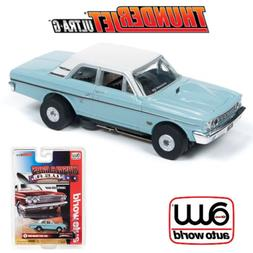 Auto World Thunderjet R25 1964 Ford Thunderbolt Blue HO Scal