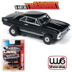 Auto World Thunderjet R25 1966 Chevy Nova SS Black HO Scale