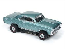 Auto World Thunderjet R25 1966 Chevy Nova SS Teal HO Slot Ca