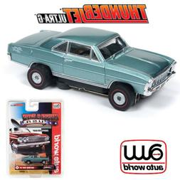 Auto World Thunderjet R25 1966 Chevy Nova SS Teal HO Scale S
