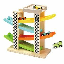 Toddler Toys For 1 2 Year Old Wooden Race Track Car Ramp Rac