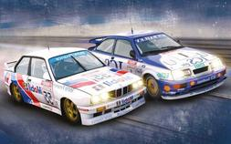 Scalextric Touring Legends Ford Sierra RS500 vs BMW E30 Slot
