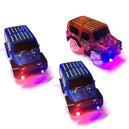 3 PC Toy Car for Magic Track Glow in the Dark Amazing Racetr
