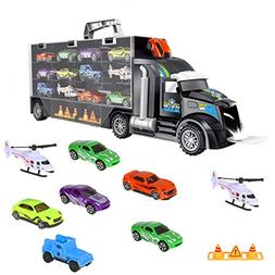iBaseToy Toy Trucks Transport Car Carrier - Toy Cars Truck E