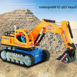 Toys For Boys LED Electric Construction Vehicle Excavator Tr