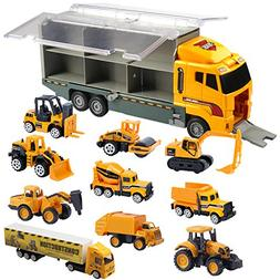Oumoda Transport Car Carrier Truck Toy, Die-cast Constructio