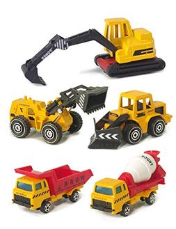 FORREST U DREAM, Construction Vehicles Toys Set for Kids, To