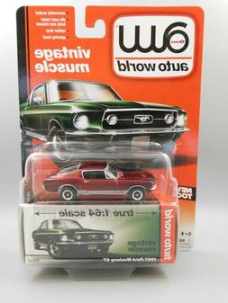 Auto World Vintage Muscle 1967 Ford Mustang GT Ultra Red CHA