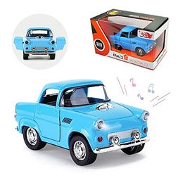 Joyjam Vintage Toy Car for Kids Ford Toy Truck Alloy Pull Ba