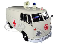 Volkswagen Type 2 T1 Ambulance Cream 1/24 Diecast Model Car