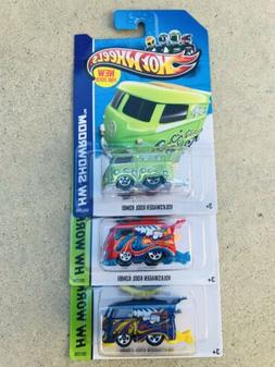 HOT WHEELS VW VOLKSWAGEN KOOL KOMBI NON SUPER LOT OF 3 CARS