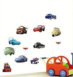 Wall Decal Sticker Cars Walt Disney Pixar Kids Bedroom and K
