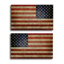 Weathered American Flag Magnets 2 Pack 3x5 inch Opposing Fla