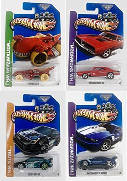 Hot Wheels City Showroom Imagination Stunt 4 Pack Bundle Sty