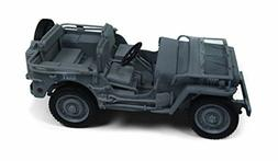 Willys MB Jeep Navy Blue Grey 1/18 Diecast Naval Constructio