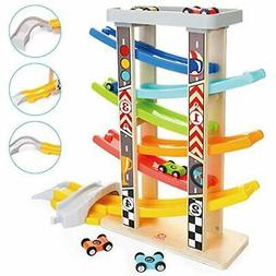 TOP BRIGHT Toddler Toys Race Track for 1 2 Year Old Boy Gift
