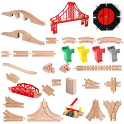 Wooden <font><b>Train</b></font> Track Accessories Beech Woo