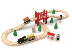 🚦Wooden Train Set🚂 For Kids Children Toy Play Tracks P
