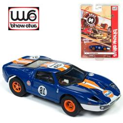 Auto World Xtraction R23 2005 Ford GT  Dark Blue HO Scale Sl