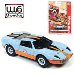 Auto World Xtraction R23 2005 Ford GT  Light Blue HO Scale S