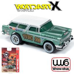 Auto World Xtraction R26 1955 Chevy Nomad Green 1:64 / HO Sc