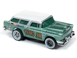 Auto World Xtraction R26 1955 Chevy Nomad Green HO Slot Car