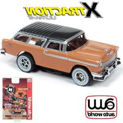 Auto World Xtraction R26 1955 Chevy Nomad Tan 1:64 / HO Scal