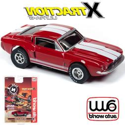 Auto World Xtraction R26 1967 Shelby GT 350 Red 1:64 / HO Sc