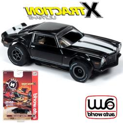 Auto World Xtraction R26 1971 Chevy Camaro Black 1:64 / HO S
