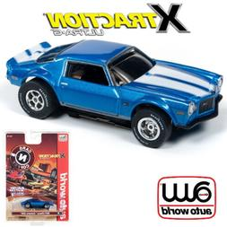 Auto World Xtraction R26 1971 Chevy Camaro Blue 1:64 / HO Sc