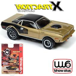 Auto World Xtraction R26 1971 Plymouth Cuda Gold 1:64 / HO S