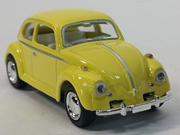 Kinsmart Yellow Classic VW Volkswagen Beetle 1/64 Scale Past